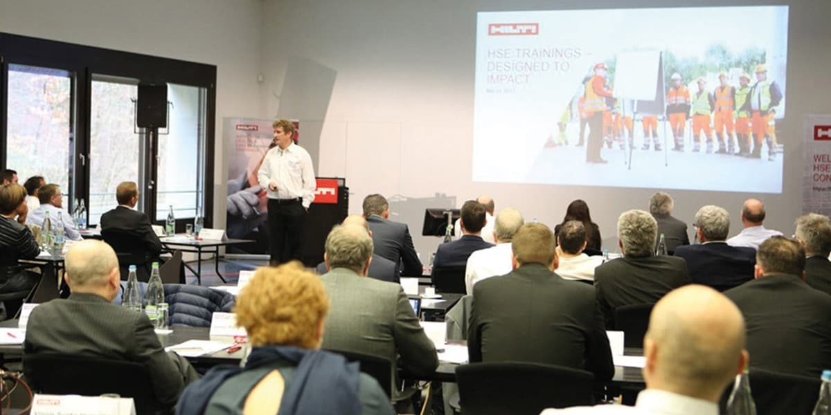Impressions from our most recent HSE Manager Conference at Hilti Headquarters