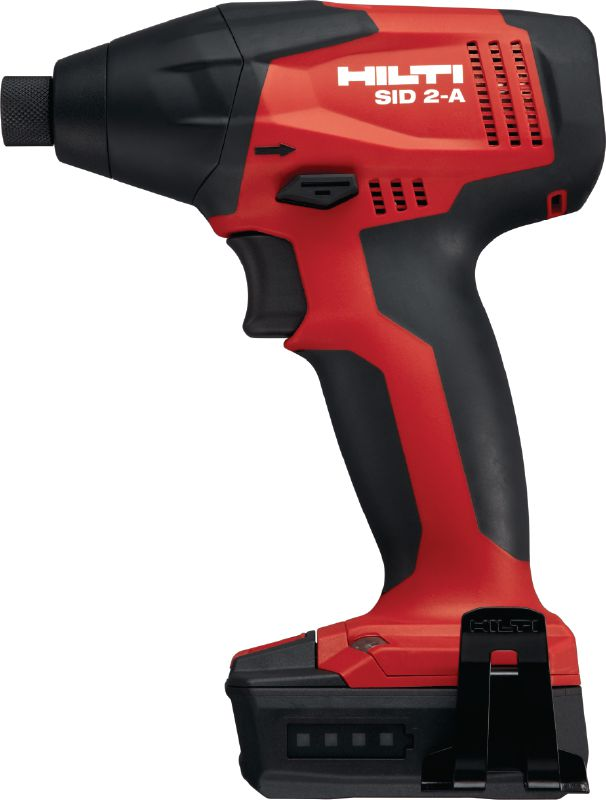 SID 2-A Cordless impact driver Subcompact cordless impact driver powered by a 12 V Li-ion battery with 1/4'' hexagonal chuck for light-duty applications